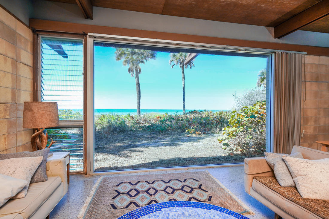 View of Gulf from Living Room