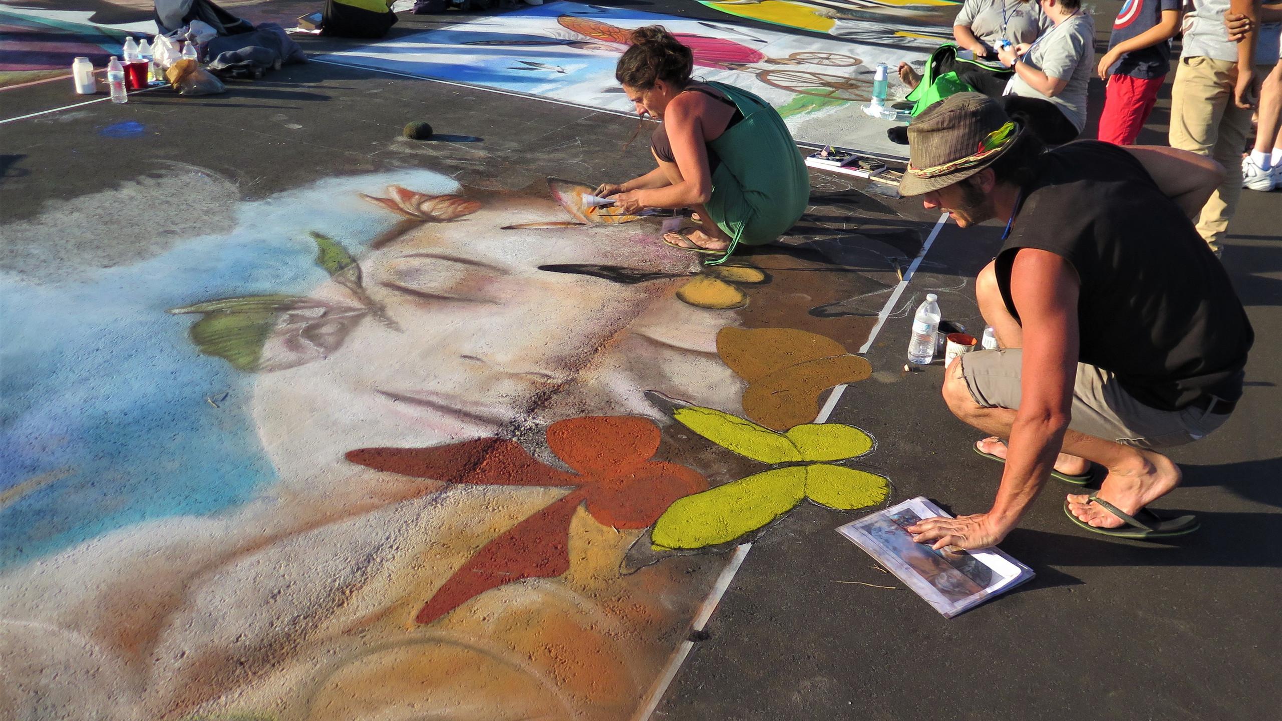 Venice Island Chalk Festival