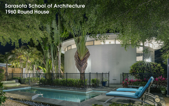 Sarasota School of Architecture Icon: The Round House | Leech Art Studio by West & Waters Archit