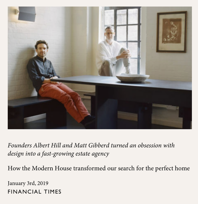 Financial Times: Martie Lieberman inspired London based The Modern House