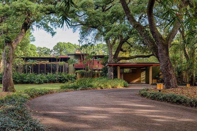 Florida Architecture: Sunnybrook House Frank Lloyd Wright Usonian Style