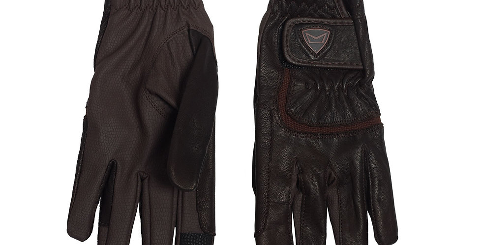 Equestrian Gloves in Chocolate Brown