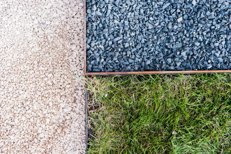 OES | Crushed limestone, Texas basalt, and zoysia grass