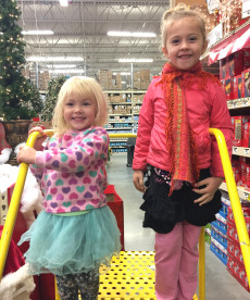 OES | Eloise and Ansley at the Home Depot