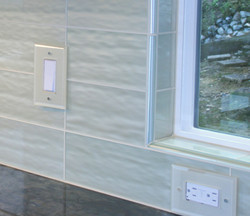 Close-up of Glass Outlets and Glass Trim