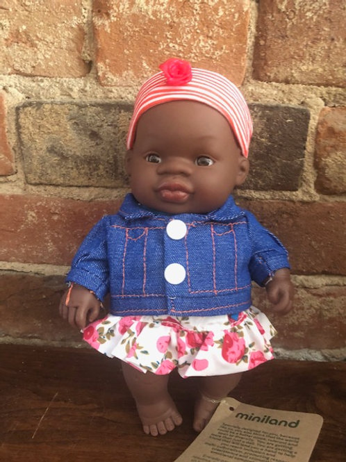 Multi-Cultural Dolls with Clothes/ 8 1/4 inch