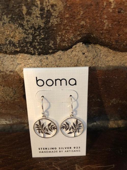 Floral pattern earrings/sterling