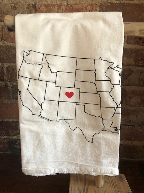 Colorado Love Dish Towel
