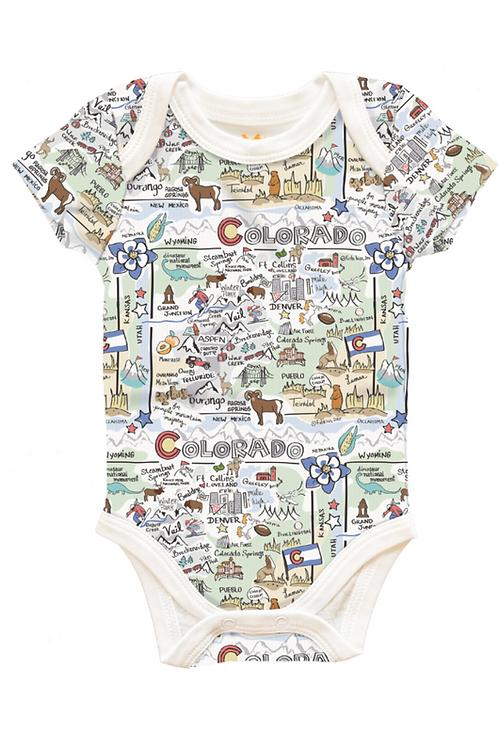 Colorado Map Baby Onesie