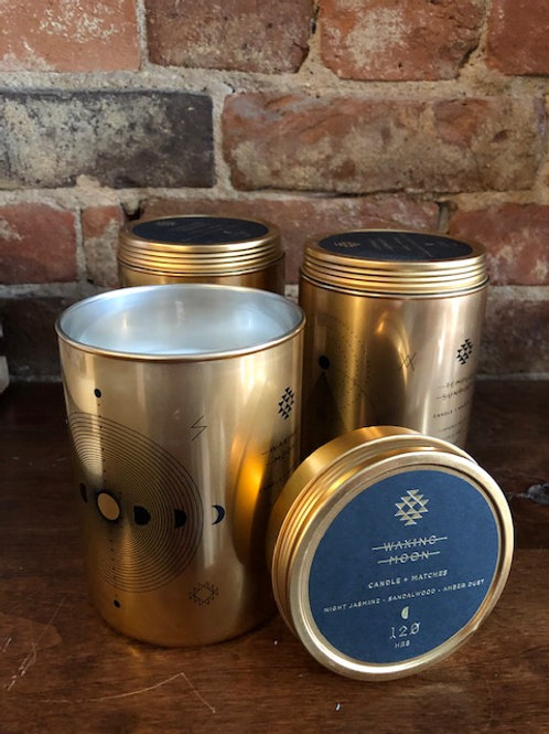 Totem Gold Tin Candle with Matches lid