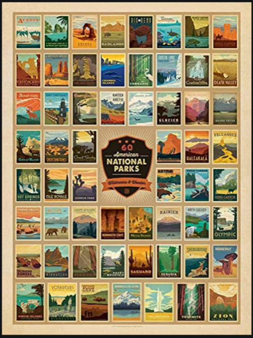New!! National Parks Patches 500 Piece Puzzle