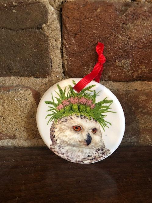Porcelain ornament/Vicki Sawyer art- 2 choices
