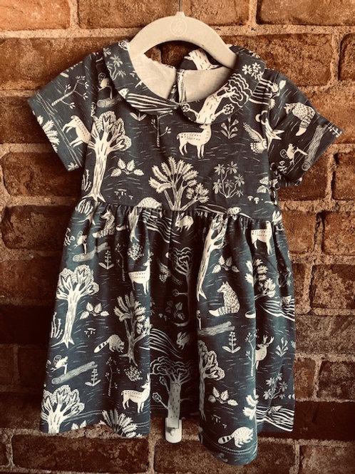 Slate blue Forrest Dress