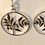 Thumbnail: Floral pattern earrings/sterling