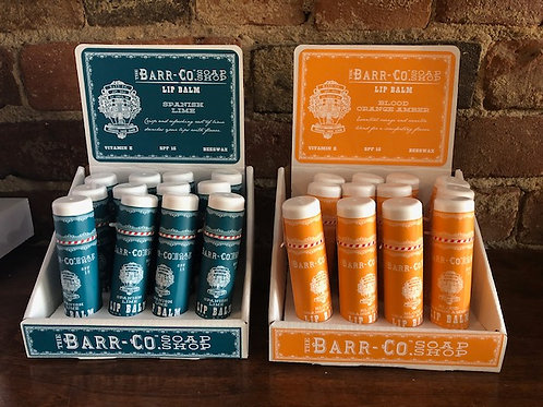 Barr-CO Lipbalms/4 scents
