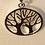 Thumbnail: Tree earrings/sterling & vermeil