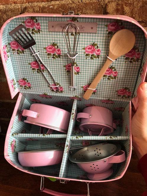 Pastel Pink Cooking Set