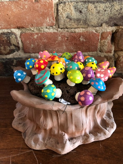 Ceramic mushrooms plant Decor