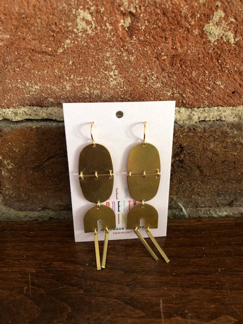 Handcrafted Brass Dangle Earrings