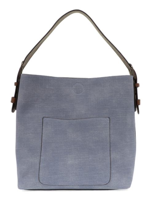 Faux/Vegan Linen Hobo Bag w/ Access. bag/5 colors