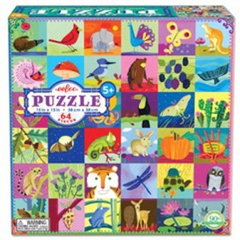 64 Piece Puzzle (AGES 5+)  4 Styles