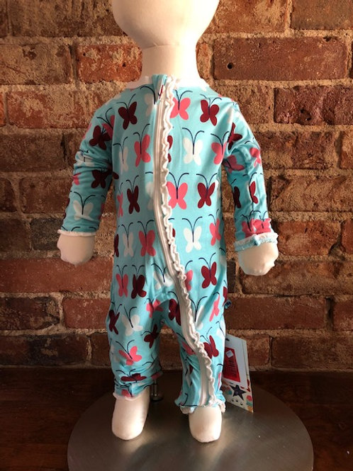 Bamboo Ruffle Coverall/Butterfly