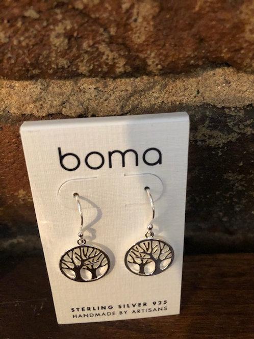 Tree earrings/sterling & vermeil