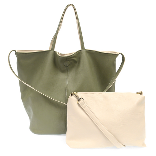 Reversible Vegan Slouch Bag