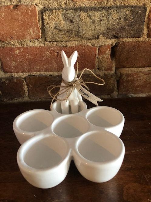 Bunny Egg Holder by MudPie