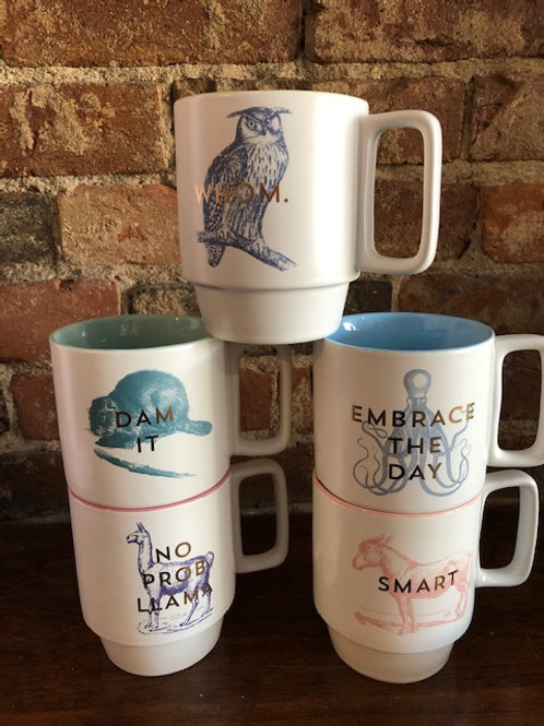 Vintage inspired Snarky Mugs-5 styles