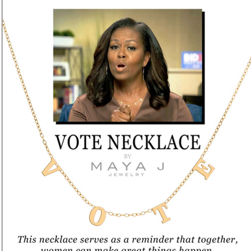 Message for orders/Vote Necklace Preorders/2nd Round Ships Oct10th