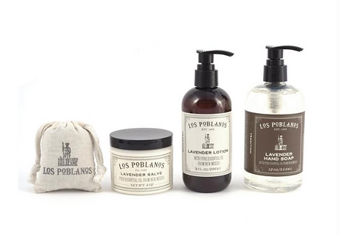 Organic Lavender Best Sellers Gift Set from Los Poblanos