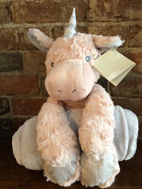 Luxe  Unicorn Plush and Fleece Blanket gift combo