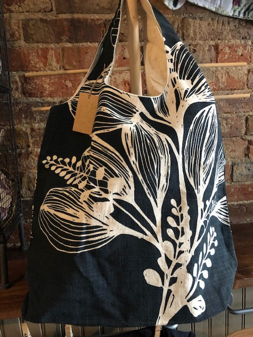 Earth Foilage Slub Cotton Shopper