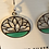 Thumbnail: Lotus earrings/Sterling & Green mother of pearl