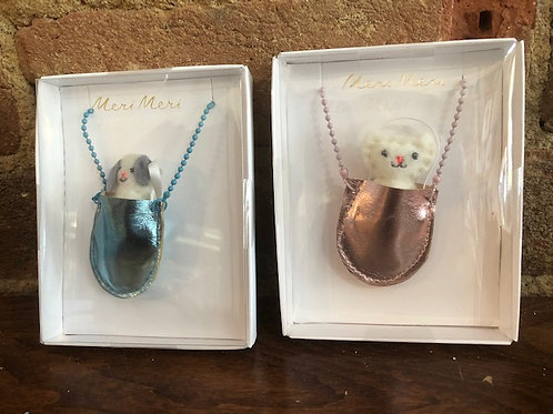 Sweet Pocketed Animal Necklace