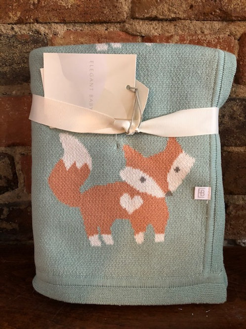 Fox knit Blanket