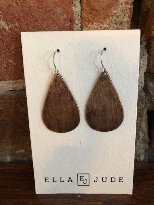 Handmade teardrop earrings