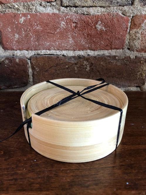Bamboo coasters-Set of 4