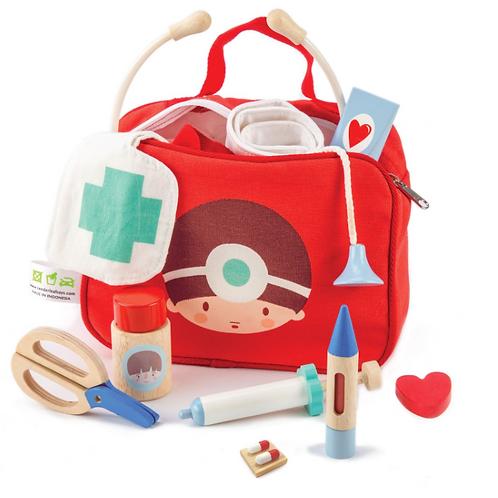 Doctor/Nurse wood toy set