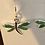 Thumbnail: Dragonfly earrings/Sterling & Green turquoise