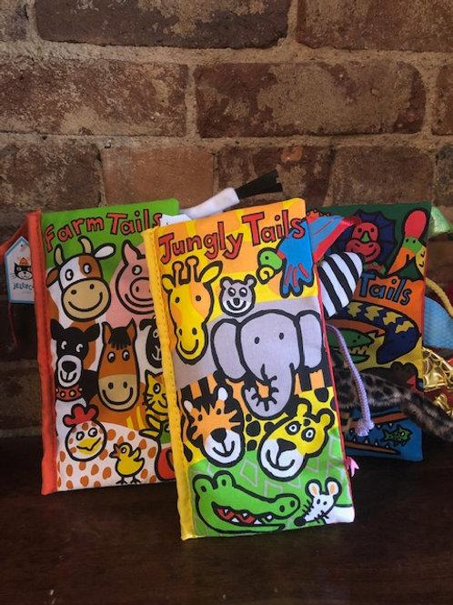 Jelly Cat Crinkle Animal Tail books/3 varieties