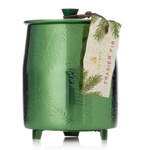 Frasier Fir Med Green Metal Candle/9.5 ounce