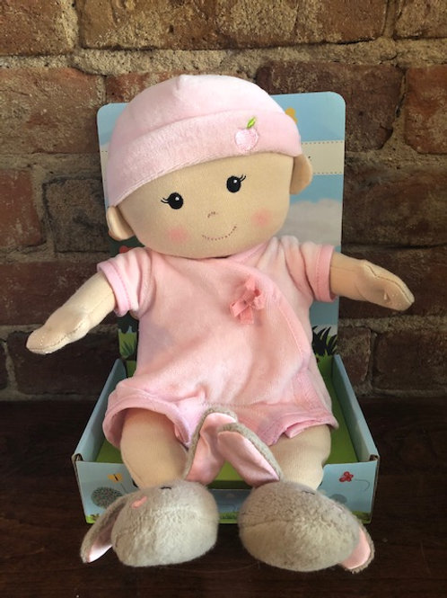 Organic 1st Baby Doll/Cloth with Bunny Slippers