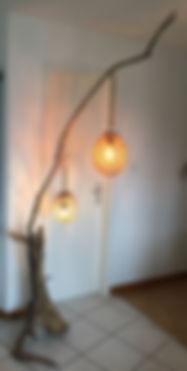 """Lampe haute """"design brut"""""""