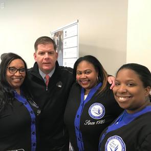 Zetas with the Mayor of Boston