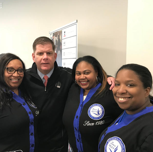 Zetas with the Mayor of Boston