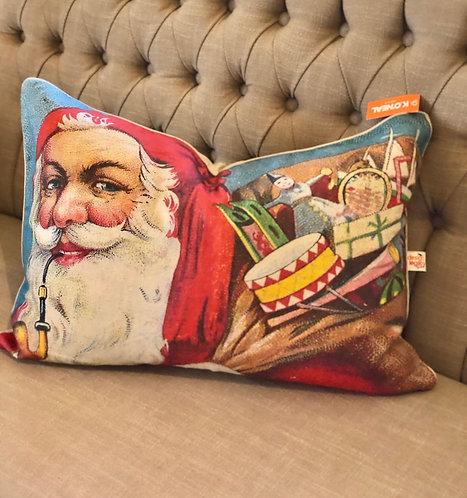 Pipe Smoking Santa pillow