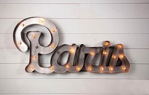 Decorative Paris Sign