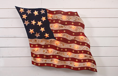 Decorative U.S. Flag Sign